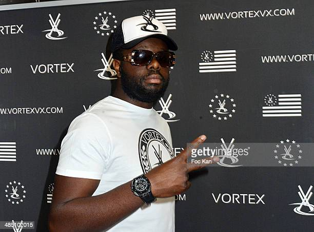 Maitre Gims attends the Vortex VX Shop Opening Party on April 16 2014 in Paris France