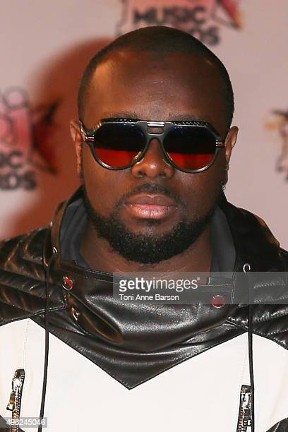 Maitre Gims attends the17th NRJ Music Awards at Palais des Festivals on November 7 2015 in Cannes France