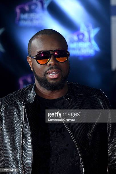 Maitre Gims attends the18th NRJ Music Awards Red Carpet Arrivals at Palais des Festivals on November 12 2016 in Cannes France