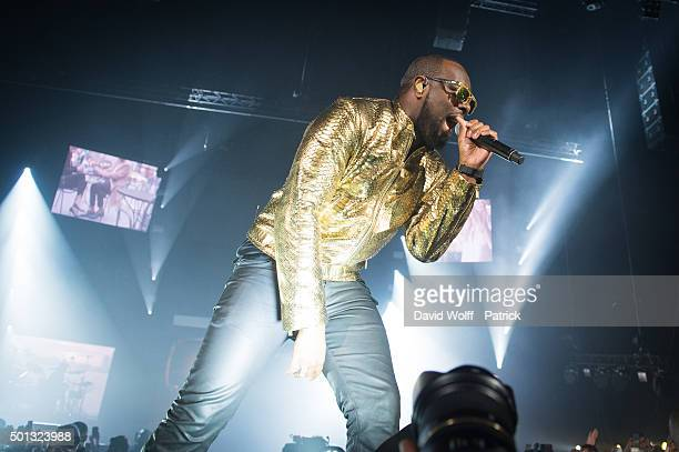 Maitre Gims performs at AccorHotels Arena on December 14 2015 in Paris France