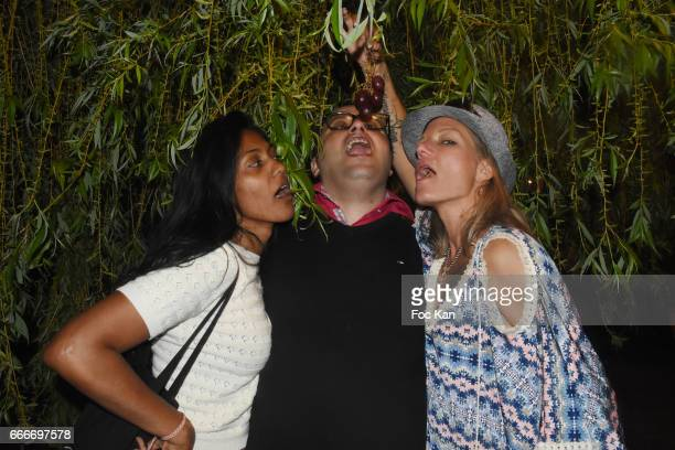 Maitre Priska designer Georges Bedran and pR Pheniciaa Virginie Graveleine attend Photographer Ko Kok Birthday Party At Le Vert Galant Garden on...