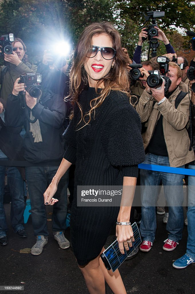 Maiwenn Le Besco arrives at the Chanel Spring / Summer 2013 show as part of Paris Fashion Week at Grand Palais on October 2, 2012 in Paris, France.