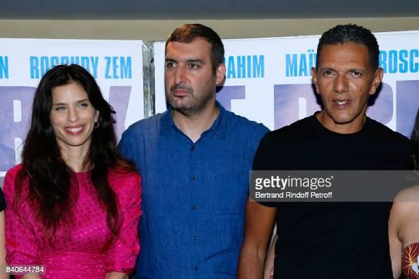 Maiwenn Le Besco Teddy LussiModeste and Roschdy Zem attend the 'Le Prix Du Success' Paris Premiere at UGC Les Halles on August 29 2017 in Paris France