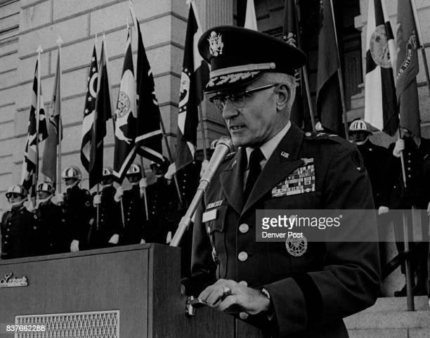 Maj Gen Bernard W Rogers Leads Speakers Ft Carson Colo commander praised citizensoldiers Credit Denver Post