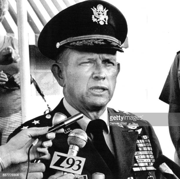 Maj Gen John K Singlaub shown in a 7/5/77 file photo left the Army 5/31after 35 1/2 years and renewed his criticism of the Carter administration...
