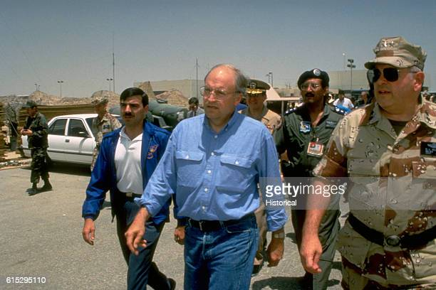 Maj General Donald L Kaufman chief US Military Training Mission to Saudi Arabia US Central Command accompanies Secretary of Defense Richard Cheney...