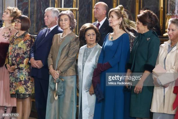 Maja Gojkovic Prince Aleksandar Karadjordjevic Queen Sofia of Spain Princess Katarina Karadjordjevic Princess Maria da Gloria Beba Marinkovic...