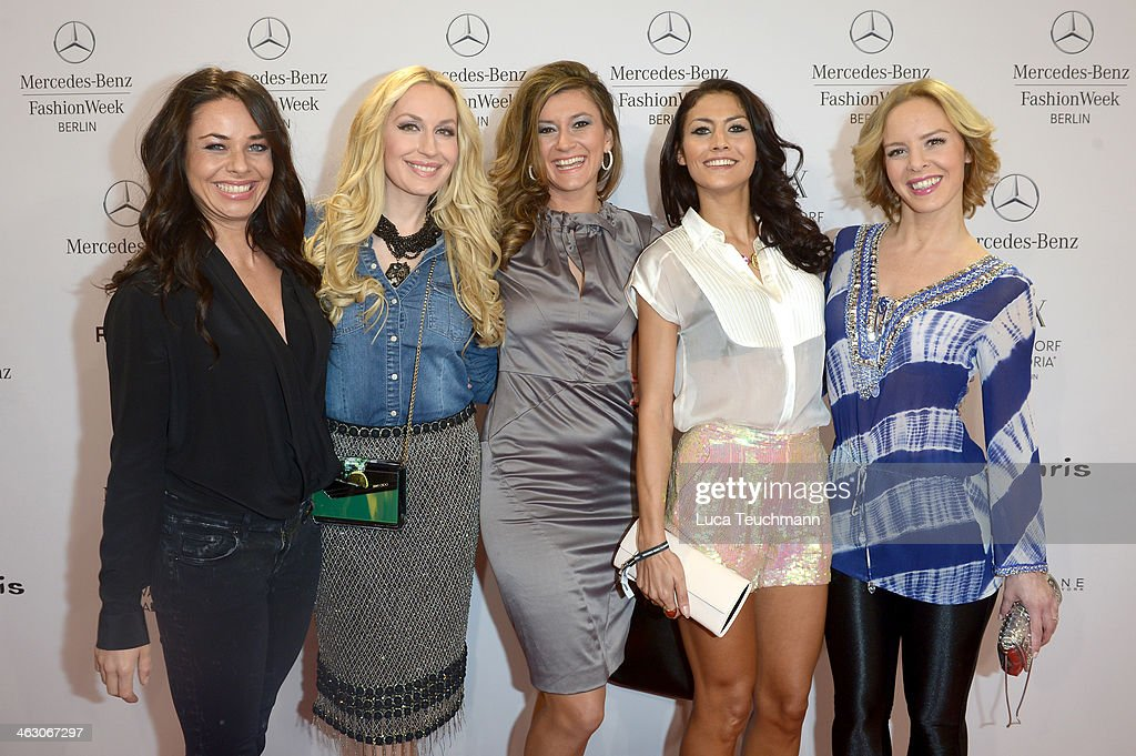 Maja Maneiro ElnaMargret zu Bentheim und Steinfurt Sandra Thier Fiona Erdmann and Isabel Edvardsson attend the Glaw show during MercedesBenz Fashion...
