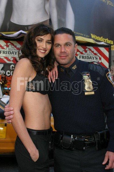 Maja NYPD Sergeant Mark A Iocco during Wonderbra Celebrates