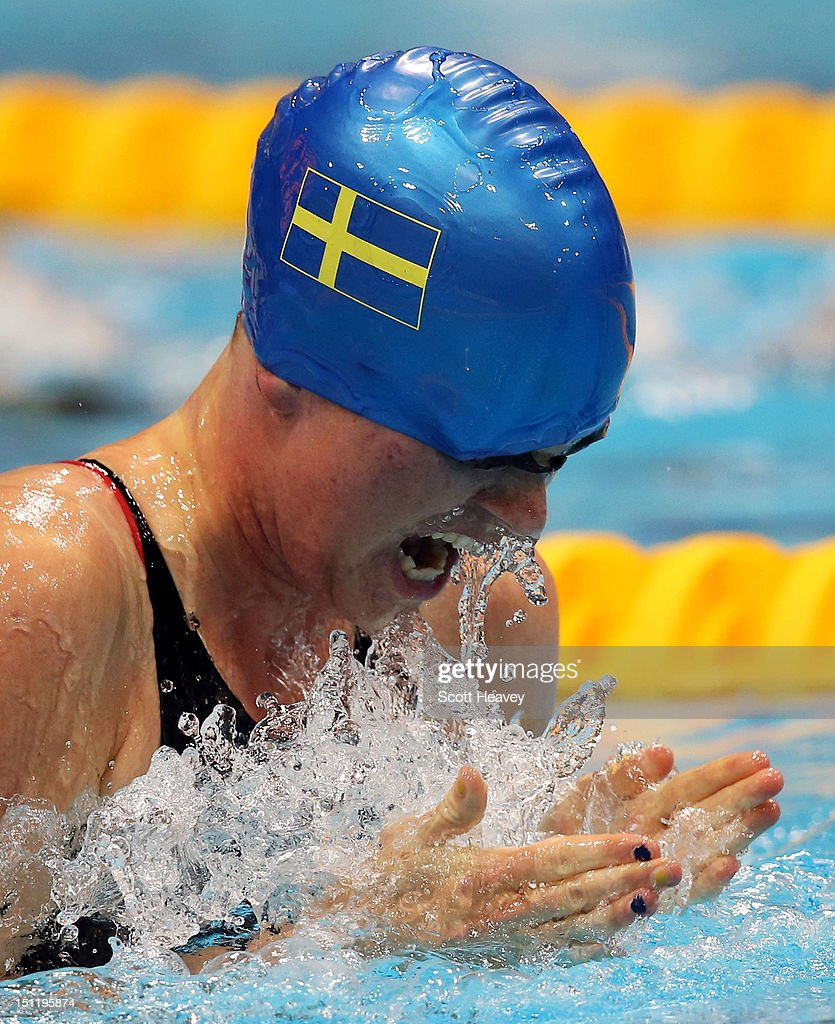 Maja Reichard of Sweden competes in the Women's 100m Breaststroke SB11 final on day 5 of the London 2012 Paralympic Games at Aquatics Centre on...