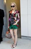 Maja Salamon is seen outside the Proenza Schouler show on September 11 2013 in New York City