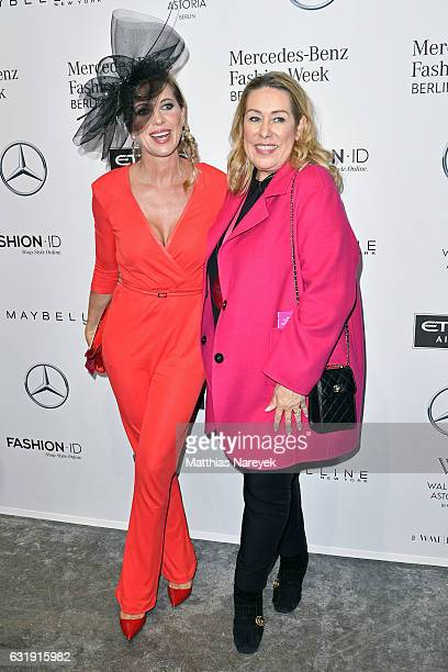 Maja Synke Prinzessin von Hohenzollern and Martina Cruse attend the Riani show during the MercedesBenz Fashion Week Berlin A/W 2017 at Kaufhaus...