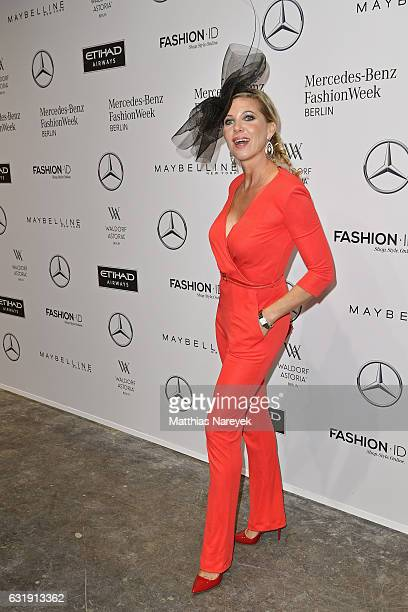 Maja Synke Prinzessin von Hohenzollern attends the Riani show during the MercedesBenz Fashion Week Berlin A/W 2017 at Kaufhaus Jandorf on January 17...