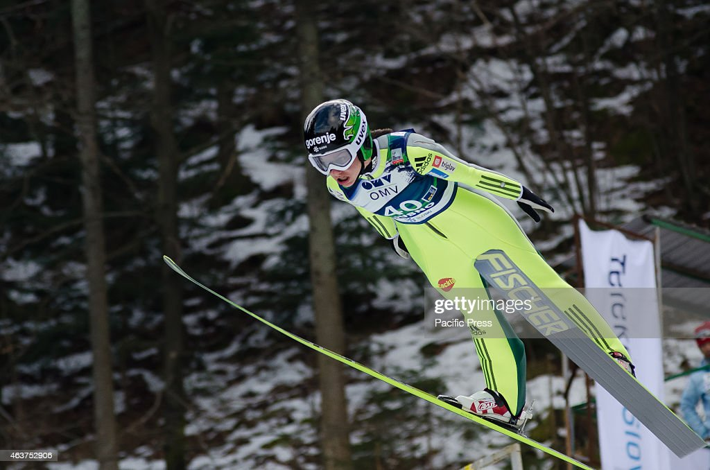 <a gi-track='captionPersonalityLinkClicked' href=/galleries/search?phrase=Maja+Vtic&family=editorial&specificpeople=7521568 ng-click='$event.stopPropagation()'>Maja Vtic</a> (SLO) in the air during her jump at the Ljubno FIS World Cup Ladies Ski Jumping.