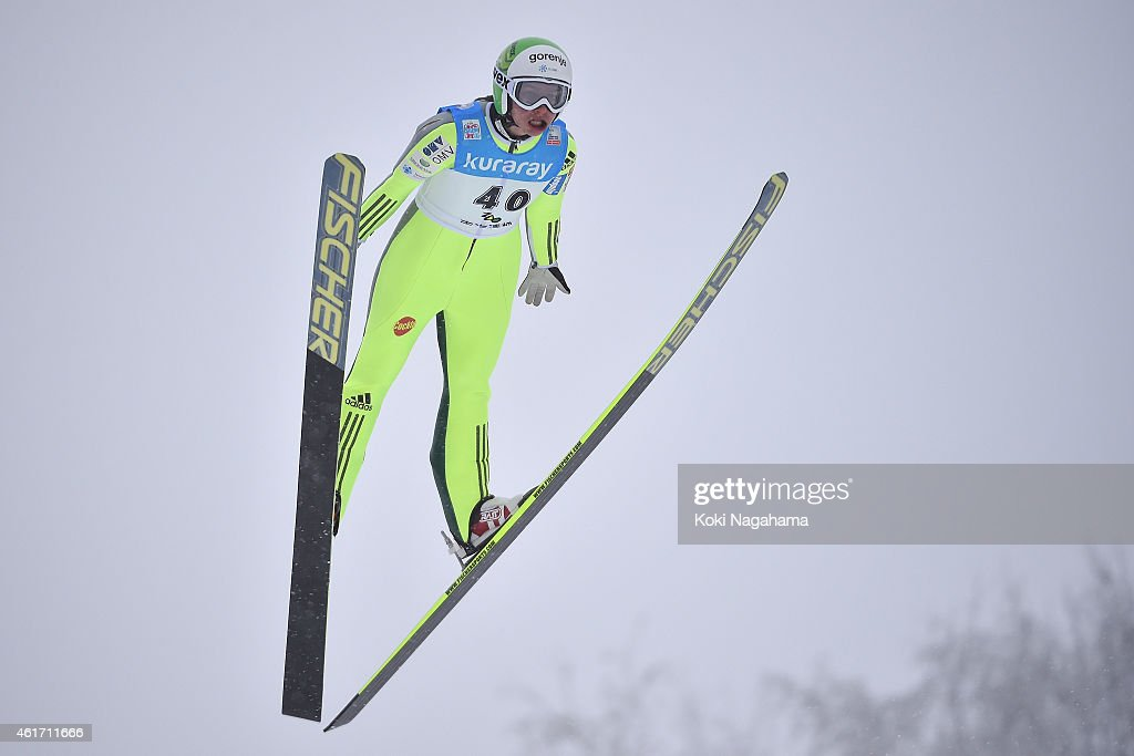 <a gi-track='captionPersonalityLinkClicked' href=/galleries/search?phrase=Maja+Vtic&family=editorial&specificpeople=7521568 ng-click='$event.stopPropagation()'>Maja Vtic</a> of Slovenia competes during the FIS Women's Ski Jumping World Cup Zao at Zao Jump Stadium on January 18, 2015 in Yamagata, Japan.