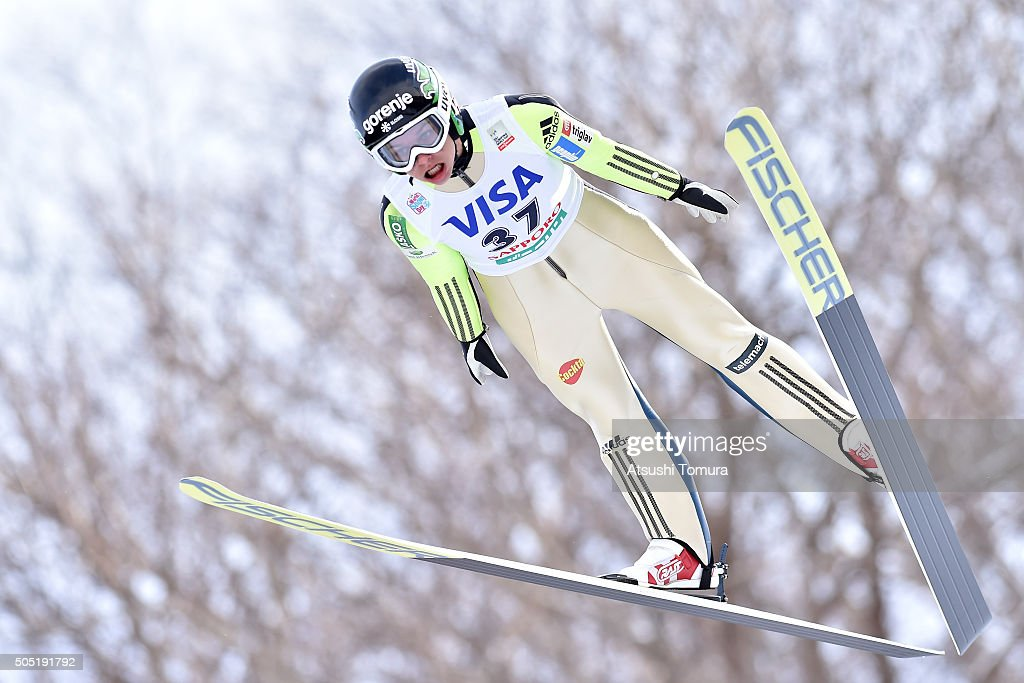 <a gi-track='captionPersonalityLinkClicked' href=/galleries/search?phrase=Maja+Vtic&family=editorial&specificpeople=7521568 ng-click='$event.stopPropagation()'>Maja Vtic</a> of Slovenia competes in the 1st round normal hill Individual during the FIS Ski Jumping World Cup Ladies Sapporo on January 16, 2016 in Sapporo, Japan.