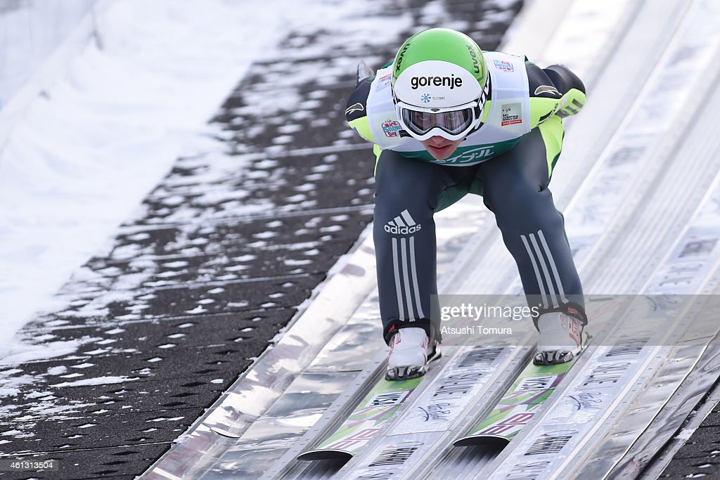 <a gi-track='captionPersonalityLinkClicked' href=/galleries/search?phrase=Maja+Vtic&family=editorial&specificpeople=7521568 ng-click='$event.stopPropagation()'>Maja Vtic</a> of Slovenia competes in the normal hill individual qualification round during the FIS Women's Ski Jumping World Cup Sapporo at Miyanomori Ski Jump Stadium on January 11, 2015 in Sapporo, Japan.