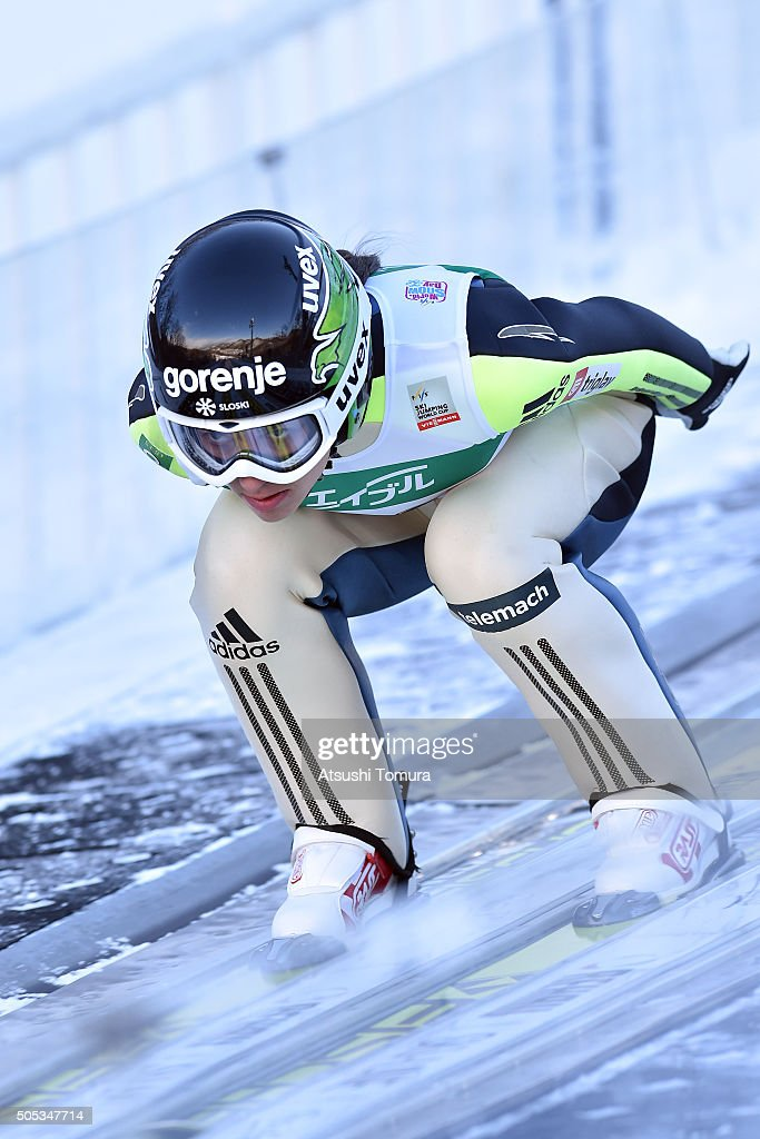 <a gi-track='captionPersonalityLinkClicked' href=/galleries/search?phrase=Maja+Vtic&family=editorial&specificpeople=7521568 ng-click='$event.stopPropagation()'>Maja Vtic</a> of Slovenia competes in the Qualification round Individual HS 100 during the FIS Ski Jumping World Cup Ladies Sapporo on January 17, 2016 in Sapporo, Japan.