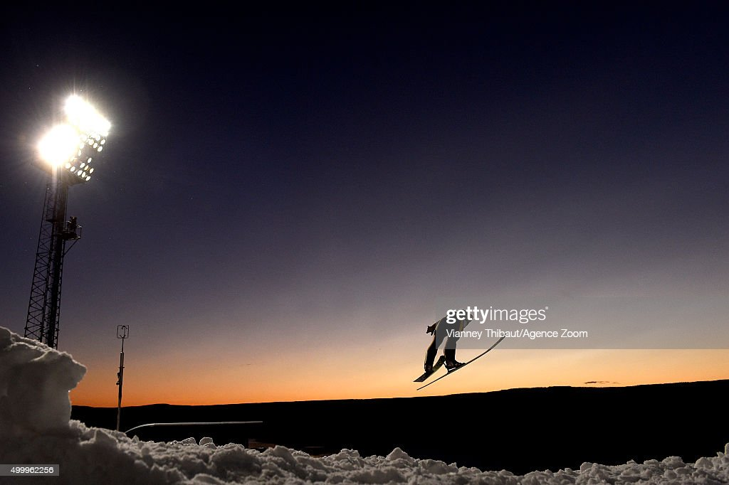 <a gi-track='captionPersonalityLinkClicked' href=/galleries/search?phrase=Maja+Vtic&family=editorial&specificpeople=7521568 ng-click='$event.stopPropagation()'>Maja Vtic</a> of Slovenia takes 2nd place during the FIS Nordic World Cup Women's Ski Jumping HS100 on December 04, 2015 in Lillehammer, Norway.