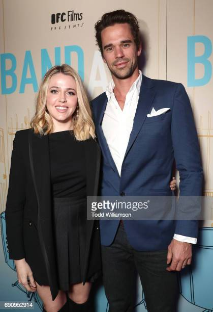 Majandra Delfino and David Walton attend the premiere of IFC Films' 'Band Aid' at The Theatre at Ace Hotel on May 30 2017 in Los Angeles California