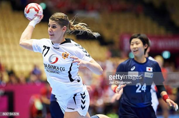 Majda Mehmedovic of Montenegro in action during the 22nd IHF Women's Handball World Championship match between Japan and Montenegro in Jyske Bank...