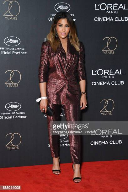 Majda Sakho attends Gala 20th Birthday of L'Oreal In Cannes during the 70th annual Cannes Film Festival at Martinez Hotel on May 24 2017 in Cannes...