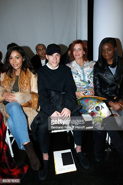 Majda Sakho Guest Fauve Hautot Karidja Toure attend the Jean Paul Gaultier Haute Couture Spring Summer 2017 show as part of Paris Fashion Week on...
