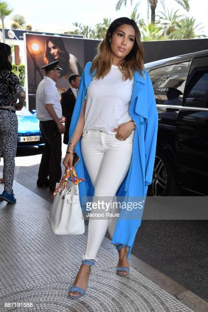 Majda Sakho is spotted at Hotel Martinez during the 70th annual Cannes Film Festival at on May 23 2017 in Cannes France