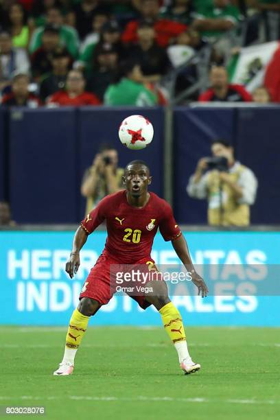 Majeed Abdul Waris of Ghana looks at the ball during the friendly match between Mexico and Ghana at NRG Stadium on June 28 2017 in Houston Texas