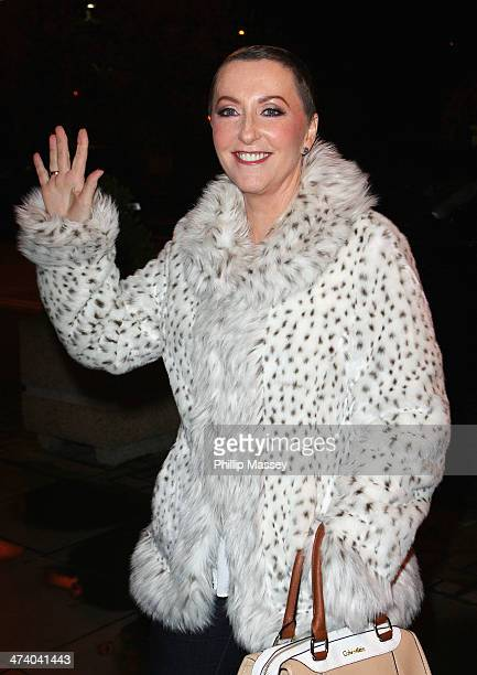 Majella O'Donnell attends the Late Late Show on February 21 2014 in Dublin Ireland