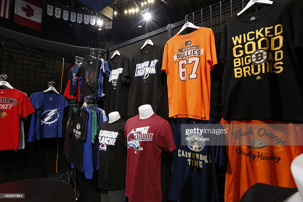 Majestic displays their NHL licensed products at the 2014 NHL Exchange at Pepsi Center on July 22, 2014, in Denver, Colorado.