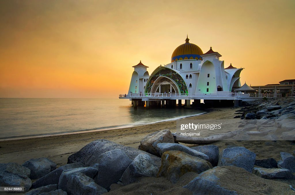 Majestic Mosque during sunset