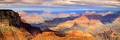 This XXL majestic scenic photo at the South Rim of the Grand Canyon captures the amazing layers of landscape and quality of light.