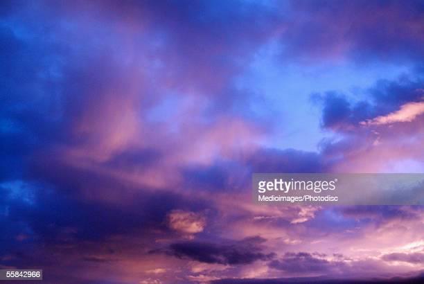 Majestic purple and blue sunset