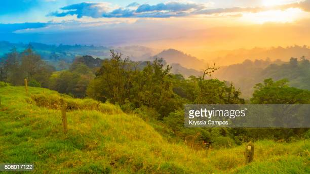 Majestic Sunset at Mountains of Costa Rica