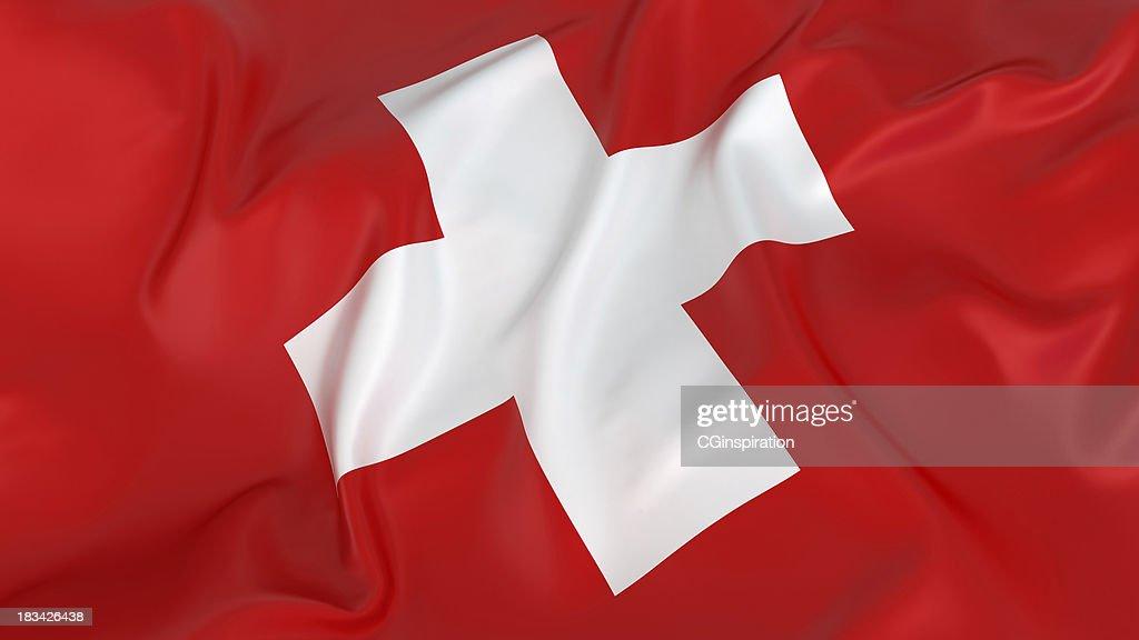 Majestic Switzerland Flag