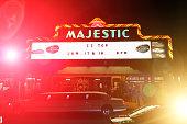 Majestic Theater in San Antonio, Texas, at night
