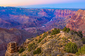 Beautiful Landscape of Grand Canyon from Desert View Point during dusk