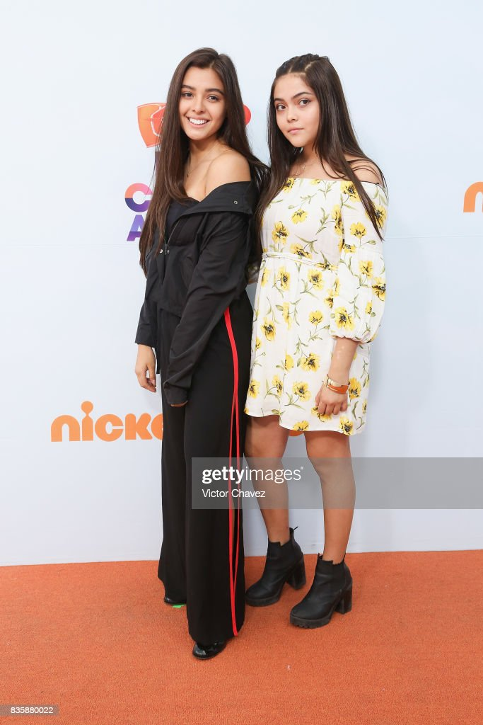 Majo and Ana attend the Nickelodeon Kids' Choice Awards Mexico 2017 at Auditorio Nacional on August 19, 2017 in Mexico City, Mexico.
