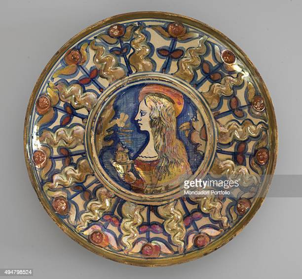 Majolica Cup with Saint Mary Magdalene by Gubbio Manufactory c 1530 16th Century majolic 23 x 23 x 4 cm Italy Lombardy Mantua Palazzo Ducale Whole...