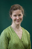Major American novelist Ann Patchett pictured at the Edinburgh International Book Festival where she talked about her book entitled Run The Book...