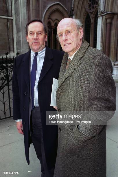 Major Anthony Crombie vicechairman of the Bath Society with chairman Lord Raglan in London after winning a major victory in their fight to preserve...