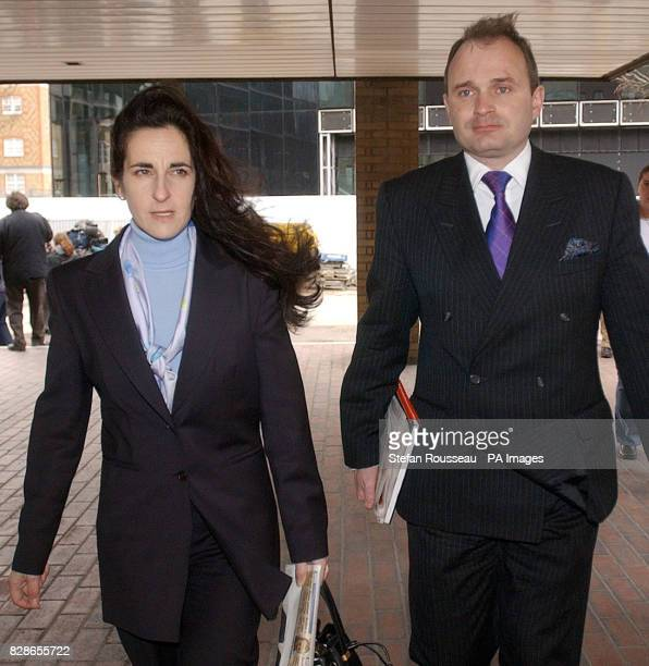 Major Charles Ingram and wife Diana arrive at Southwark crown Court in London where they are accused of cheating to win 1 million prize money on the...