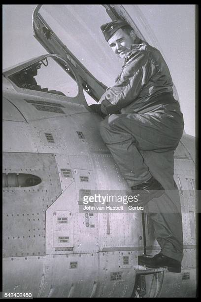 Major Charles Sweeney as a test pilot
