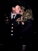 Major Dennis Foley and actress Goldie Hawn attend US Army Major Dennis Foley's Silver Oak Leaf Pinning Ceremony and Officially Named Lieutenant...