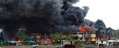 A major fire that broke out at a plastic godown in Navi Mumbai on Monday morning took the life of one fireman and injured five others