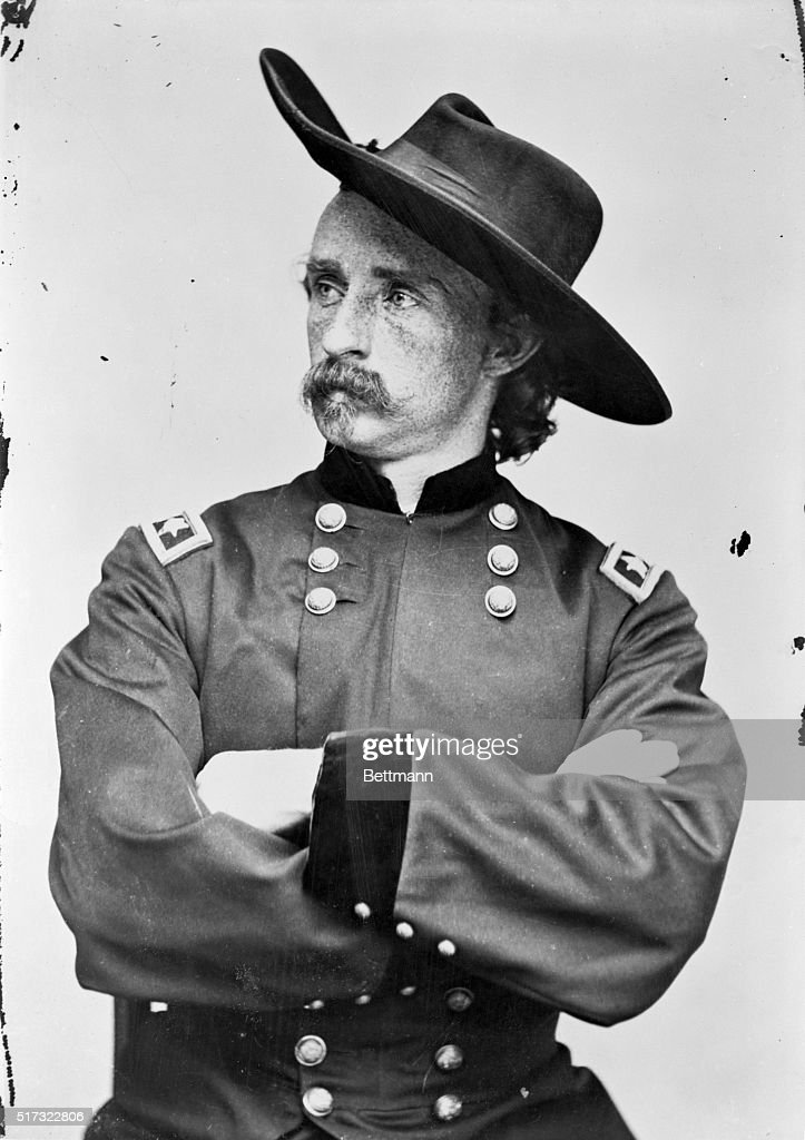 Major General George A. Custer (1839-1876), American Army officer. Undated photograph by Mathew Brady.