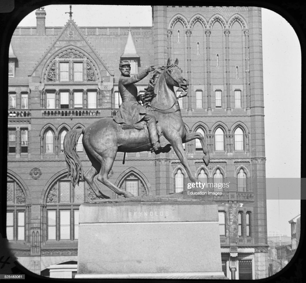 Major General John Fulton Reynolds Equestrian Statue Vintage Photograph