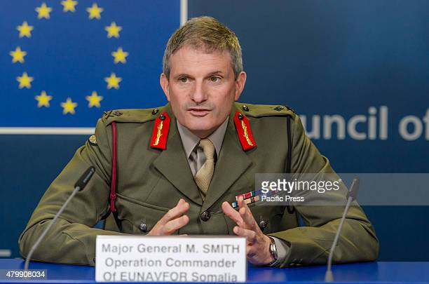 Major General Martin Smith talks to the press about Operation Atalanta launched in 2008 which improves maritime security by preventing piracy off the...