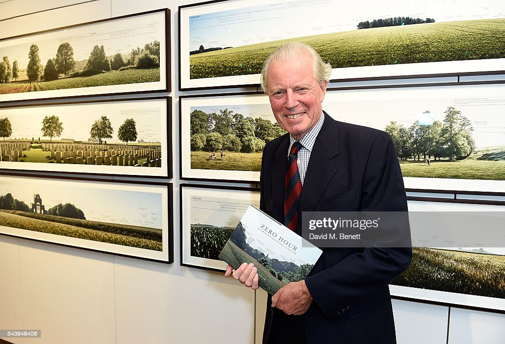 Major General Michael Scott attends the exhibition launch party of 'The Zero Hour Panoramas' by Jolyon Fenwick. The exhibition consists of 14 photographic panoramas showcasing, '100 Years on: Views From The Parapet of the Somme', at Sladmore Contemporary on June 30, 2016 in London, England.